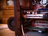 ..a PCI exhaust cooler made into a powerfull intake cooler blowing on the Radeon